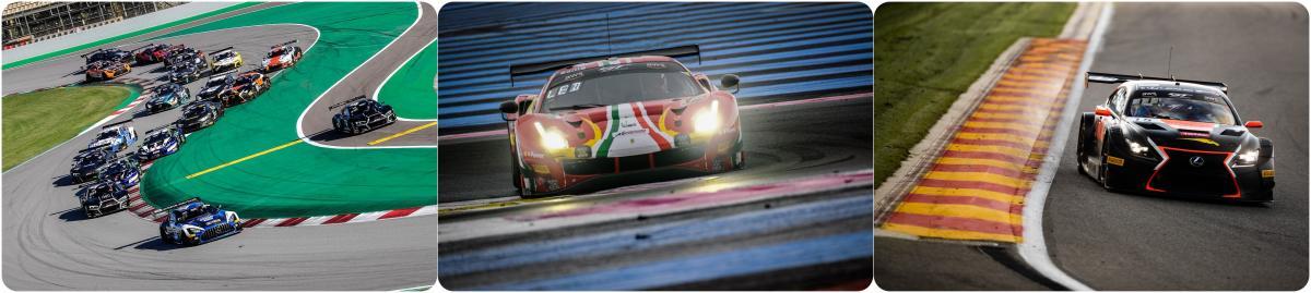 ブランパンGTシリーズ年間レーススケジュール